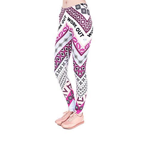 da pantalone stampa donna con Pantalone a Lybtrouser 3d pantacollant stampato 5Bqpwna