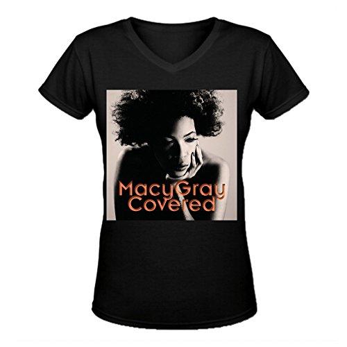 Macy Gray Covered Premium Cotton Women V Neck T-Shirt - Macys Men Sale