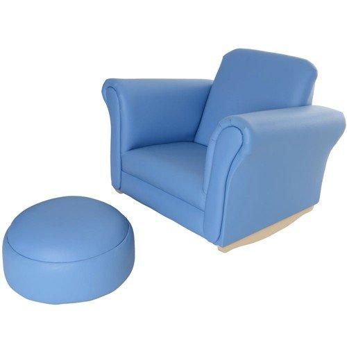 B.e Asiento para niños Mecedora sillón sofá con reposapiés (Piel sintética de Poliuretano) Nuevo: Amazon.es: Hogar