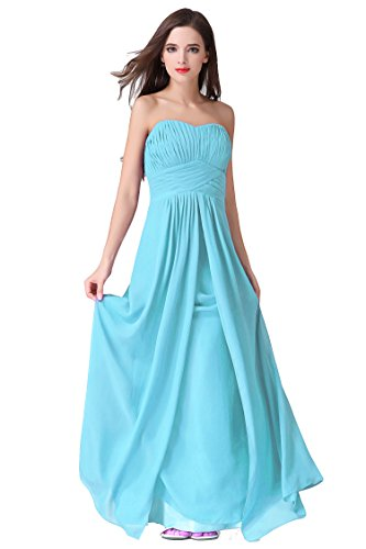 WeiYin Women's Chiffon Long Sweetheart Evening Gown Party Dresses