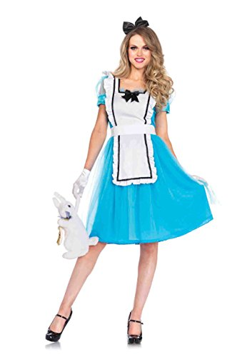 Leg Avenue Women's Classic Alice Costume, Blue/White, -