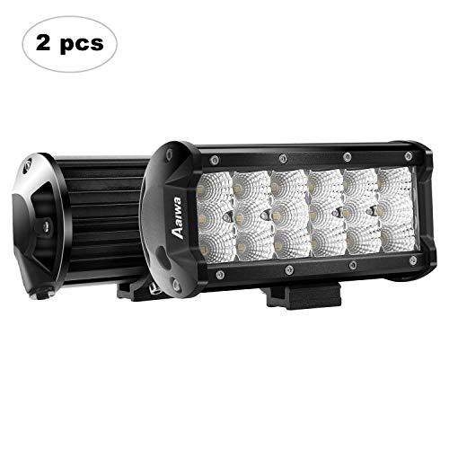 Off Road Lights AAIWA 54W LED Light Bar 2 PCS Flood LED Bar Triple Row LED Fog Light LED Work Light 7