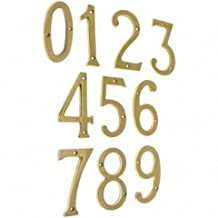 Idh by St. Simons 23201-019 Solid Brass House Number 1, Matte Black - 6 in.