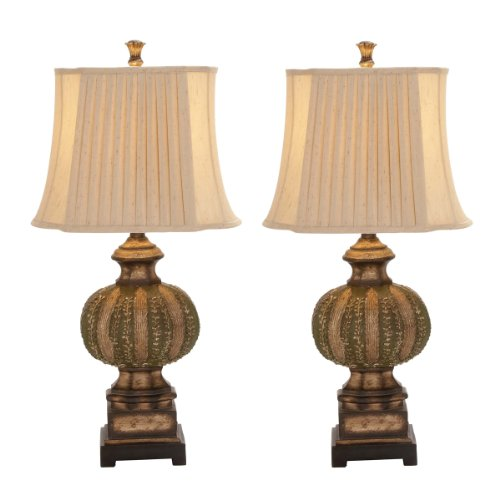 """Urban Designs Handcrafted Chateau Bordeaux 34"""" Table Lamp - Set of 2"""
