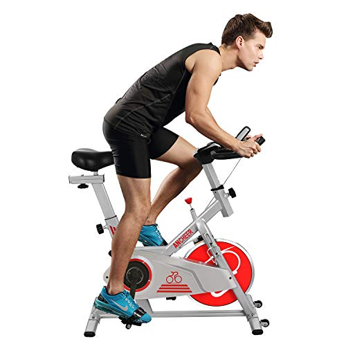 ANCHEER Indoor Cycling Bike with Smooth Belt Driven