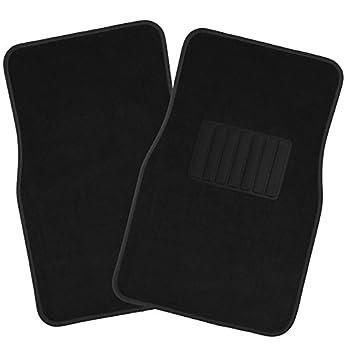 Oxgord Universal Fit Frontrear 4-piece Full Set Heavy Duty Economy Carpet Floor Mat - (Black) 1