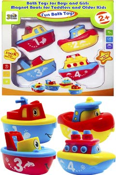 3 Bees & Me Bath Toys for Boys and Girls - Magnet Boat Set for Toddlers & Kids - Fun & Educational (Tub Toys For Toddlers)