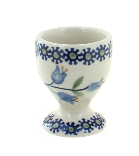 Blue Rose Polish Pottery Tulip Egg Cup