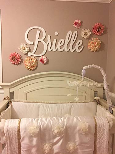Custom Personalized Wooden Name Sign 12-55'' WIDE - CHARLOTTE Font Letters Baby Name Plaque PAINTED nursery name nursery decor wooden wall art, above a crib by 48 Hour Monogram (Image #6)