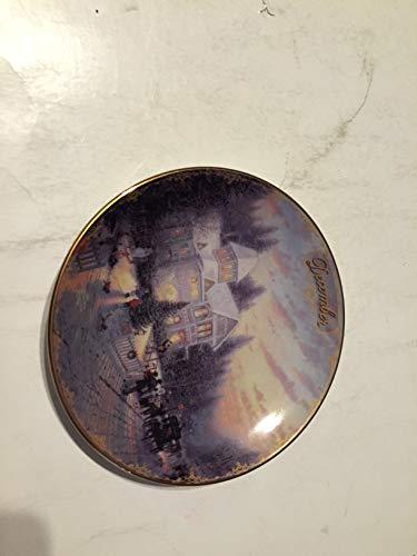 BRADFORD EXCHANG December Vatican Christmas Thomas Kinkade Collector Plate Small 5 1/2 INCHES