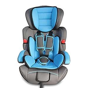 Todeco - Silla de Coche para Bebés y Niños, Asiento Elevador para Coches - Estándar/Certificación: ECE R44/04 - Rango de edad: Niños de 9 meses a 12 años - 9 a 36 kg, Azul