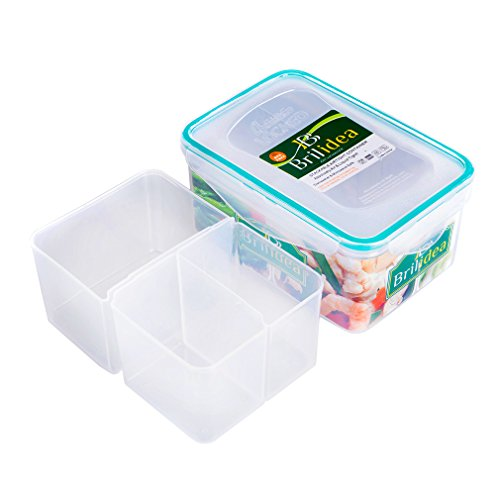 Bento Box Lunch Container with Dividers - Removable compartments, Airtight, Leakproof, Fridge, Microwave and Dishwasher safe (41 oz)