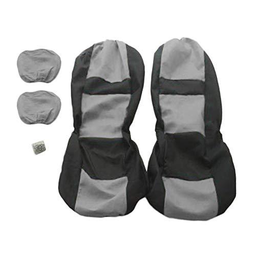 Triamisu 4-delige universele set voor vier seizoenen, voor auto's, zitkussens, styling-pads, grijs