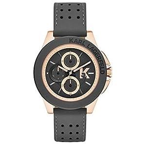 amazon com karl lagerfeld kl1411 chronograph leather strap men s karl lagerfeld kl1411 chronograph leather strap men s watch