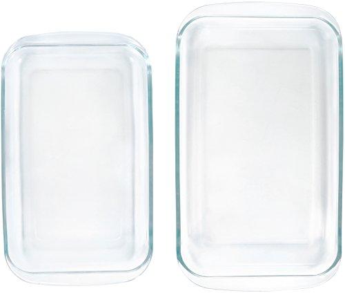 AmazonBasics Glass Oblong Baking Dishes - 2-Pack by AmazonBasics (Image #3)