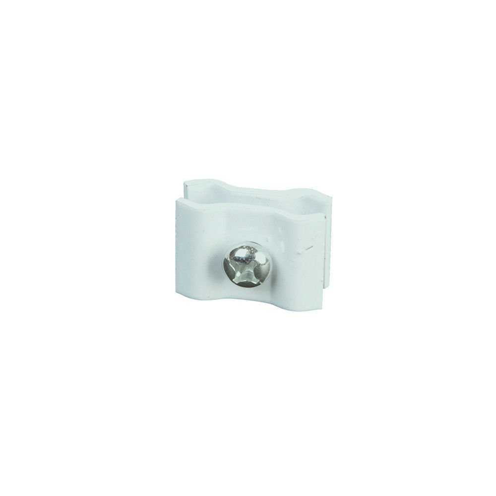 White Gridwall Joining Clips - Grid Panel Joiner Connectors - 40 Pack