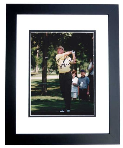 Tom Kite Signed - Autographed Golf 8x10 inch Photo BLACK CUSTOM FRAME ()