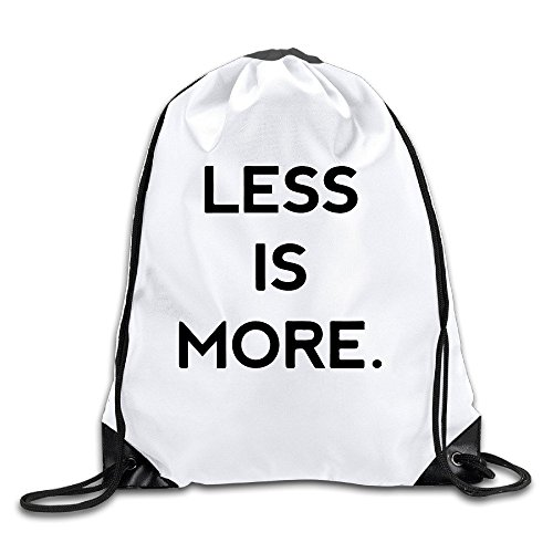FOODE Less Is More Drawstring Backpack Sack - Oakley Less For