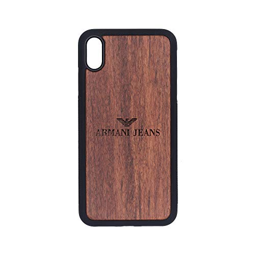 Armani Jeans - iPhone Xs MAX Case - Rosewood Premium Slim & Lightweight Traveler Wooden Protective Phone Case - Unique, Stylish & Eco-Friendly - Designed for iPhone Xs MAX
