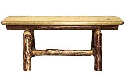 Montana Woodworks Glacier Country Collection Plank Style Bench