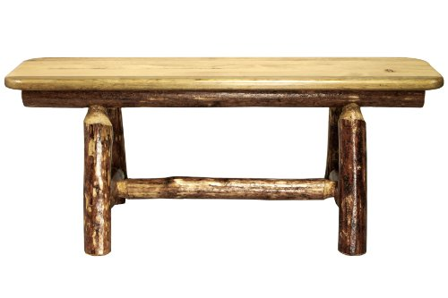 Montana Woodworks Glacier Country Collection Plank Style Bench, 45-Inch
