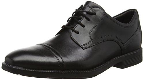 Rockport Herren DP Modern Cap Toe Oxford Schwarz (Black Lea)