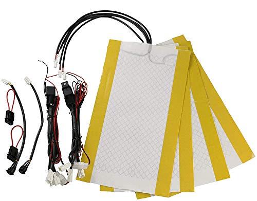 KBD Premium Seat Heater Kit High/Low Switch Settings Faster Warm Up (2 seat)