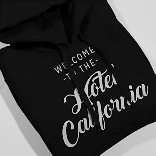 Hotel Hooded Women's California Song Black Lyric Sweatshirt 4nH14qzI