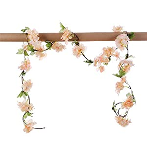 Only Angel Artificial Rose Flower Wholesale Flowers Vine Garland Hanging Christmas Decor Flowers Wedding Home Garden Outdoor Decoration-2 Pack 37