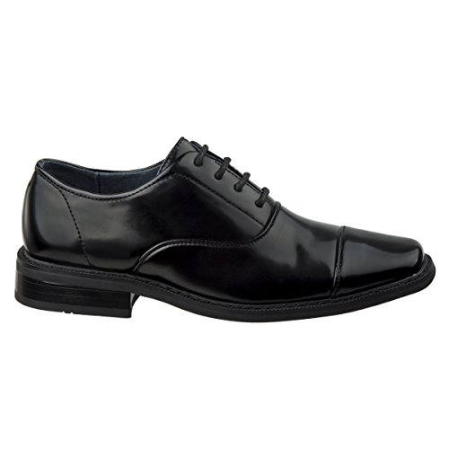 Joseph Allen Boys Wing Tip Perforated Oxford Dress Shoe (Toddler, Little Kid, Big Kid) (6 M US Big Kid, Black Cap Toe)' by Joseph Allen (Image #3)
