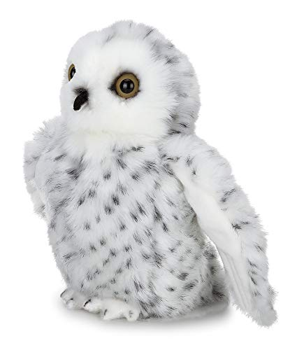 Bearington Drift Plush Stuffed Animal White Snowy Owl, 8 inches