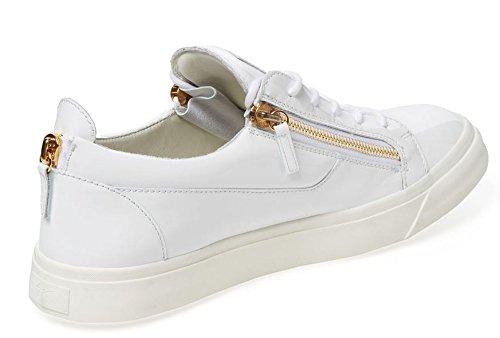 Giuseppe Zanotti Sneaker Bassa Chiusura Tripla Zip In Pelle Verniciata London 14 Us 47 Eu