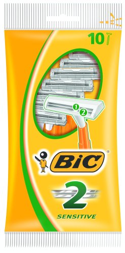 BIC 2 Sensitive Twin Blade Pack of 10 Razors 8385302