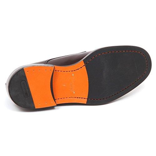 Scarpe Shoe Man SANTONI E1228 Brown Scarpa Marrone Uomo xqwzpnZzO