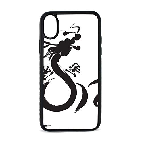 Case for iPhone Oriental Writing Chinese Style Brush Word Digital Print TPU Pc Pearl Plate Cover Phone Hard Case Cell Phone Accessories Compatible with Protective Apple Iphonex/xsCase 5.8 Inch ()