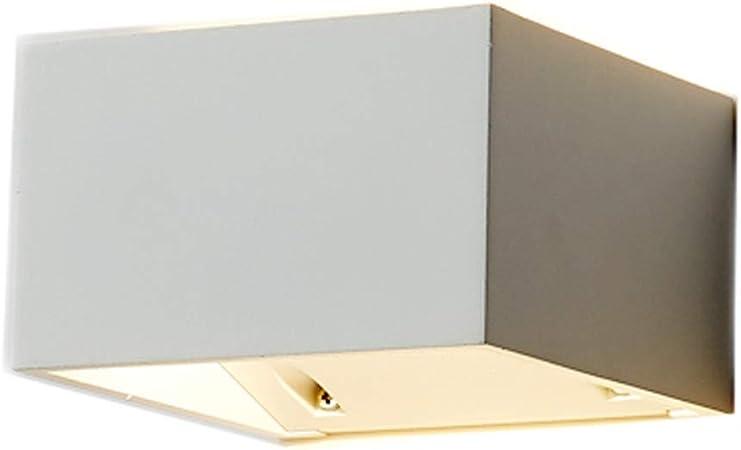 ZJ Aplique Sencillo Lámpara de Pared de la Pared Puerta Escalera Moderna Minimalista Terraza lámpara de Pared del Pasillo Artesanía Fina (Color : White): Amazon.es: Hogar