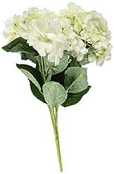 YSBER 3 Big Heads Artificial Hydrangea Silk Fake Flowers Bunch Bouquet Home Hotel Wedding Party Centerpieces Garden Floral Decor