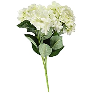YSBER 3 Big Heads Artificial Hydrangea Silk Fake Flowers Bunch Bouquet Home Hotel Wedding Party Centerpieces Garden Floral Decor 33