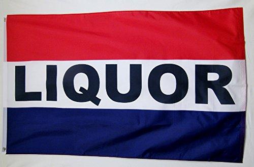 Liquor Advertising Flag 3' X 5' Indoor Outdoor  Business Ban