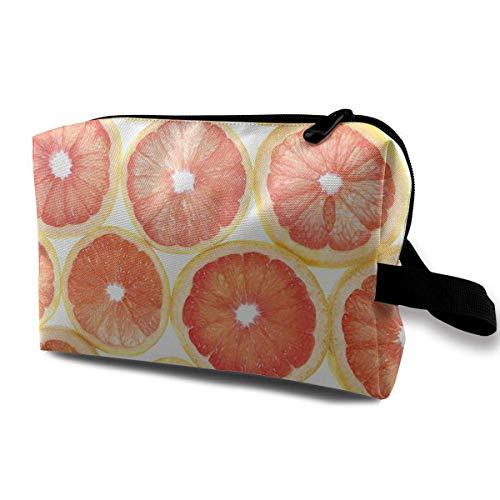 Orange Crush Toiletry Bag Waterproof Fabric Cosmetic Bags Travel Case For Women's Accessories