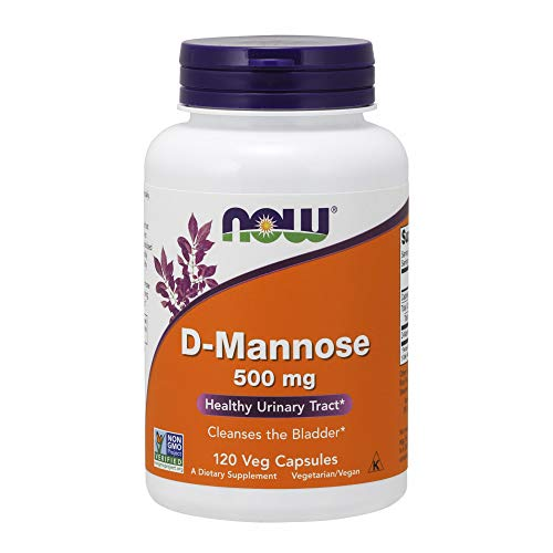 NOW® D-Mannose, 500 mg, 120 Veg Capsules (Foods 120 Caps)