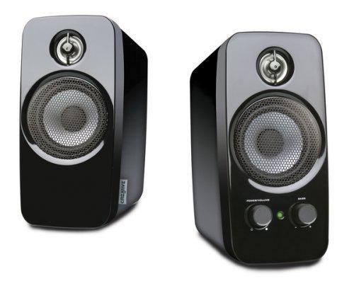 Creative Inspire T10 - 2.0 Desktop Lautsprecher (Stereo/AUX-IN/5 W RMS) schwarz (Zertifiziert und Generalü berholt)