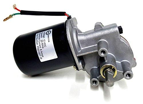"Makermotor 3/8"" D Shaft 12V DC Reversible Electric Gear Motor 50 RPM"