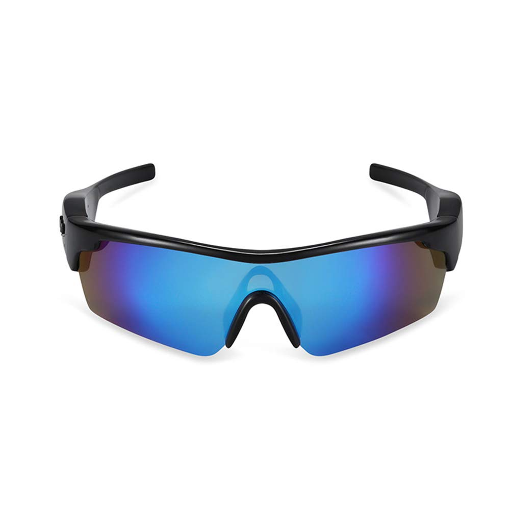 スマートワイヤレスBluetooth HDメガネ、アウトドアスポーツ用ライディングメガネ、アンチグレアゴーグル、インテリジェントノイズ低減Bluetoothヘッドセット、UVプロテクションサンプルーフ偏光スポーツサングラス B07S5RJ91H blue