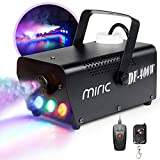 Fog Machine, Miric Smoke Machine Portable with LED Lights Equipped with Wired and Wireless Remote Control for Party, Christmas, Halloween and Weddings (400W)