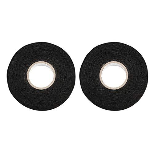 Homyl 2 Rolls Black Wire Loom Harness Tape, Car Wiring Harness Cloth Tape, 19 mm x 25m: