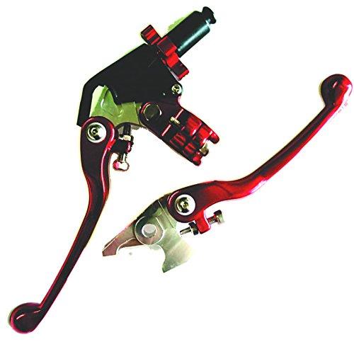 Yamaha ATV Lever Set Clutch Brake RED YFZ450 2007-2014 YFM700 RAPTOR 2007-2014 YFM250 2008-2014