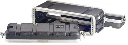 Stagg ABS-2US Shallow Case for 2-Unit Rack - Black by Stagg