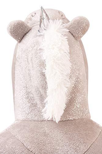 Da Luccicante Divertente Gadget Animale Regalo Cappuccio Vestaglia Grigio 3d Elegante Con Donna Loungeable Argento PRqdUHww