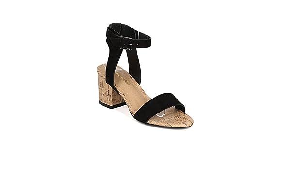 de85fd633c9 Amazon.com   Alrisco Women Faux Suede Open Toe Ankle Strap Cork ...